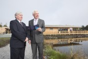 Minster Alex White opened the new €1.5 million Bord na Móna development, as part of the official launch of Lough Boora Discovery Park.