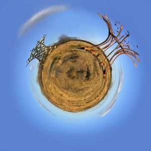 Sculpture Little Planet by Paul Barber